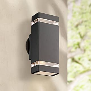 Skyridge Modern Outdoor Wall Sconce Fixture Graphite Gray 10 1/2