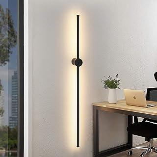 LED Applique murale noire 100CM longue blanc chaud 3000K applique salon intérieur pivotante lampe de nuit minimaliste 8W l...