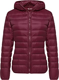 Women's Hooded Packable Ultra Light Weight Short Down Jacket