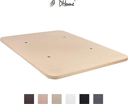 DHOME Base Tapizada 3D Reforzada Acero Sin Patas Bases tapizadas (135x190, Blanco)