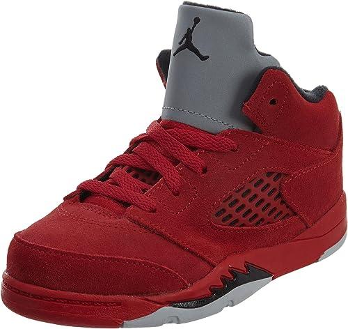 Nike Nike Jordan Retro 12,7cm Rouge en Daim université Rouge Noir (pour Enfant)  100% livraison gratuite
