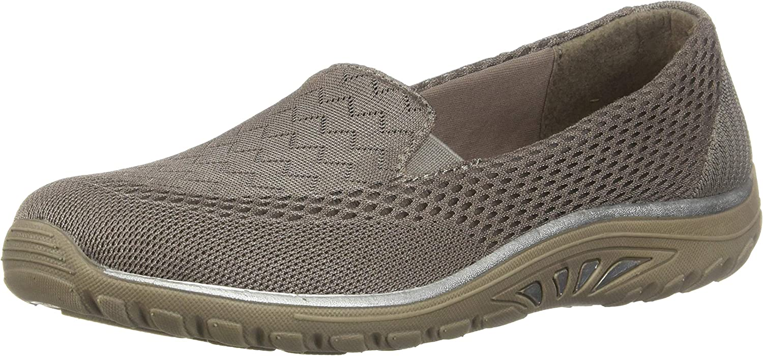 Skechers damen Relaxed Fit Fit Fit Reggae Fest Willows Slip On,Dark Taupe,US 6 M 5b7