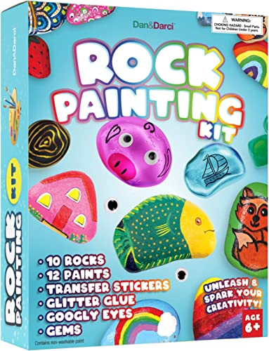 Rock Painting Kit for Kids - Arts and Crafts for Girls & Boys Ages 6-12 - Craft Kits Art Set - Supplies for Painting ...