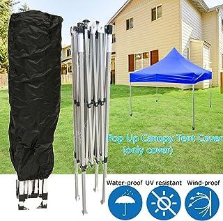 dDanke - Toldo de Almacenamiento para Patas inclinadas con Bloqueo UV Resistente al Agua, Color Negro con Cuerda Ajustable para Exteriores