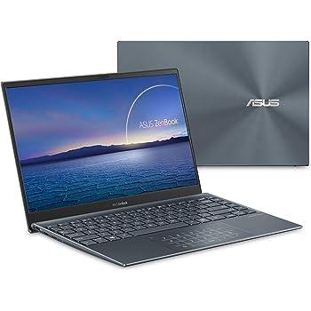 """ASUS ZenBook 13 Ultra-Slim Laptop, 13.3"""" FHD NanoEdge Bezel Display, Intel Core i7-1065G7, 8GB LPDDR4X RAM, 512GB PCIe SSD, NumberPad, Thunderbolt, Wi-Fi 6, Windows 10 Home, Pine Grey, UX325JA-DB71"""