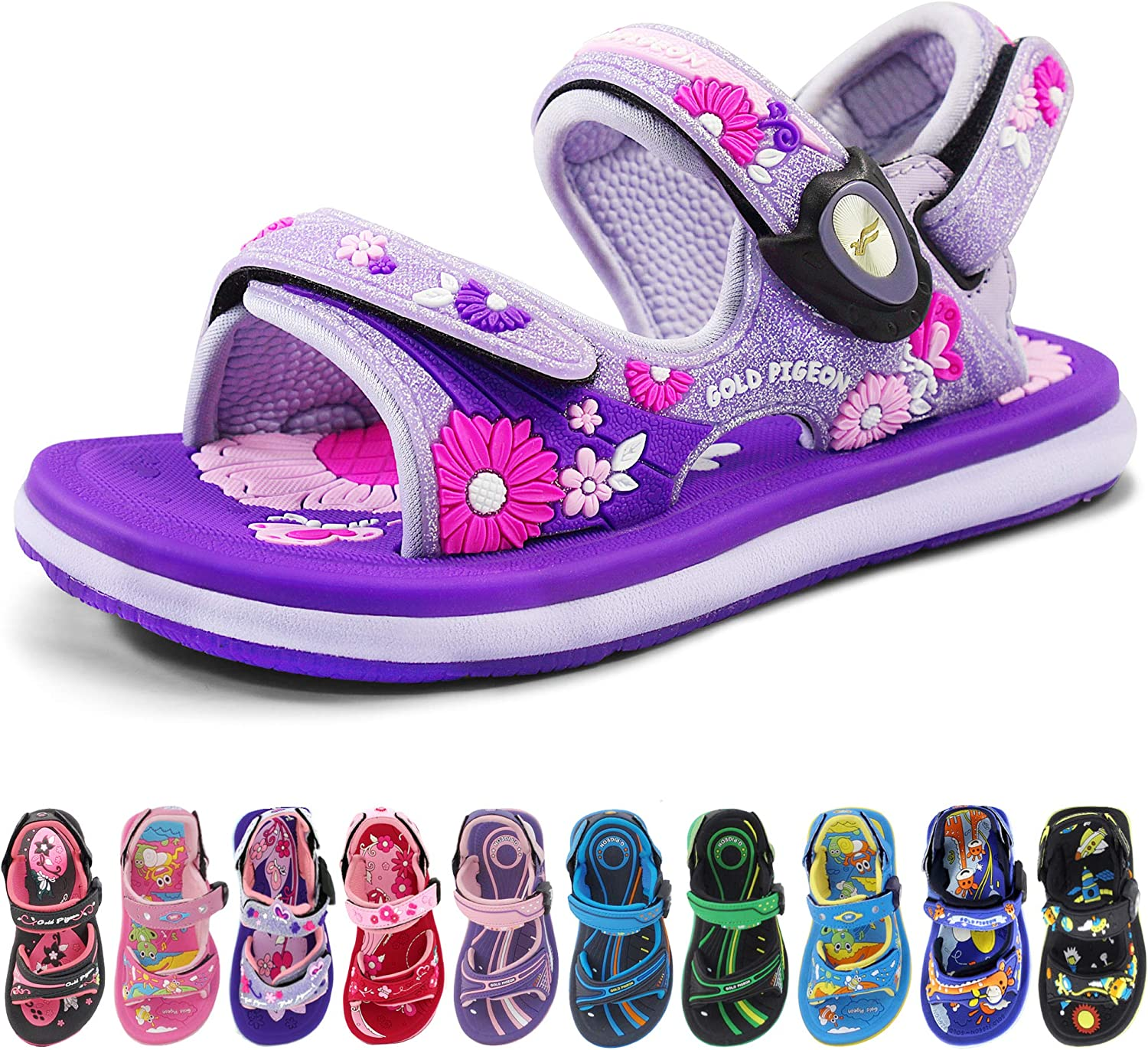 Manufacturer regenerated product Kids Classic Easy All stores are sold SNAP LOCK Slides with Sandals Str Adjustable