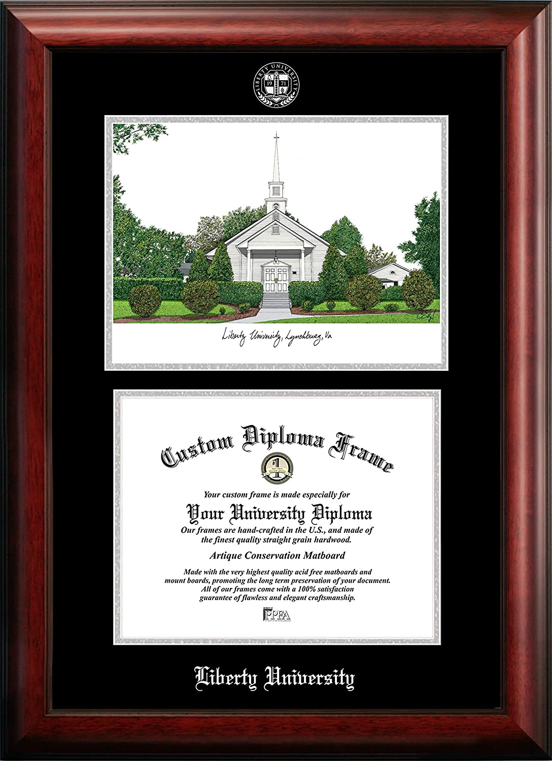 Campus Images NCAA Liberty Flames Low price Medallion Unisex Silver Frame Max 60% OFF