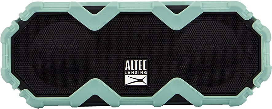 Black Built In Qi Wireless Charger Renewed Waterproof Shockproof and it Floats in Water Altec Lansing LifeJacket XL Jolt with Lights Up to 20 Hour Battery Life Snowproof