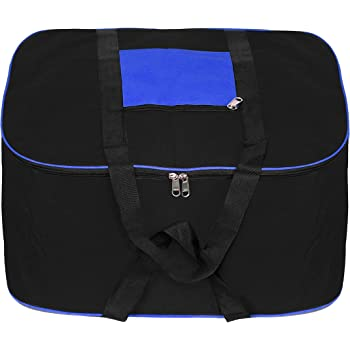 DAHSHA Nylon Large Underbed Storage Bag Clothes Blankets Organiser with Double Zipper Closure & Strong Handle (54 X 46 X 28 cm)