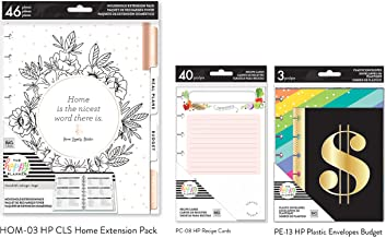 The Happy Planner Home Extension Bundle (Classic/Medium Home Extension Pack, HP Envelopes Budget, HP Recipe Cards) (HOM-03, PC-08, PE-13)(3 Items)