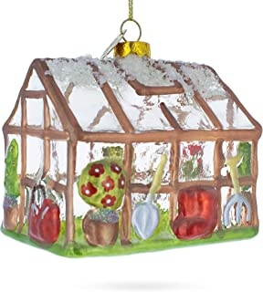 BestPysanky Greenhouse and Tools Glass Christmas Ornament