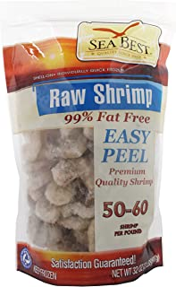 Sea Best 51/60 EZ Peel Shrimp, 2 Pound