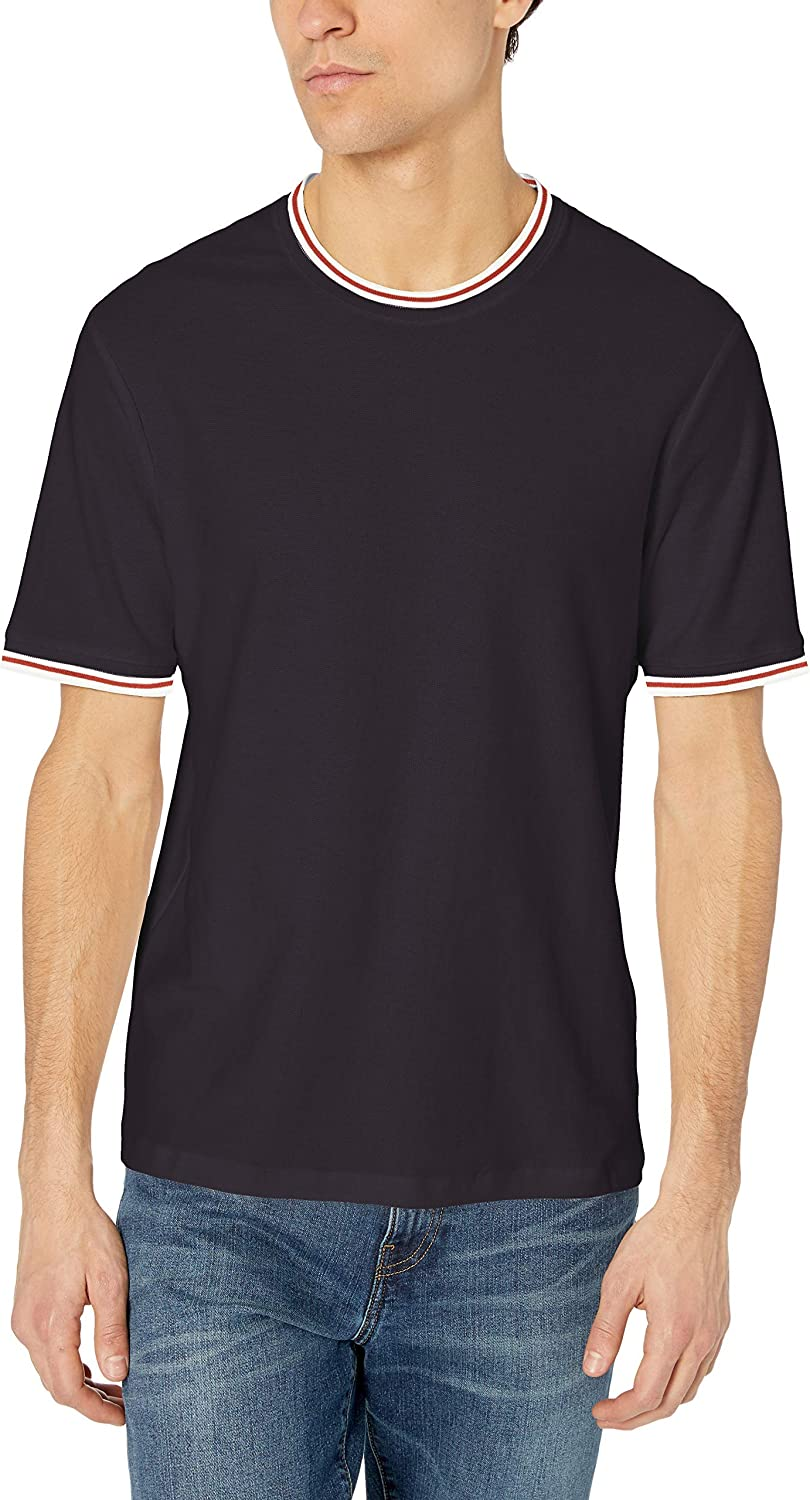 French Connection Men's Short Sleeve Memphis Mall Reg Solid Ne Color Crew Superior Fit