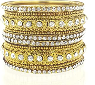 YouBella Traditional Bridal Jewellery Gold Plated Chura/Chuda Bangles Jewellery for Women and Girls