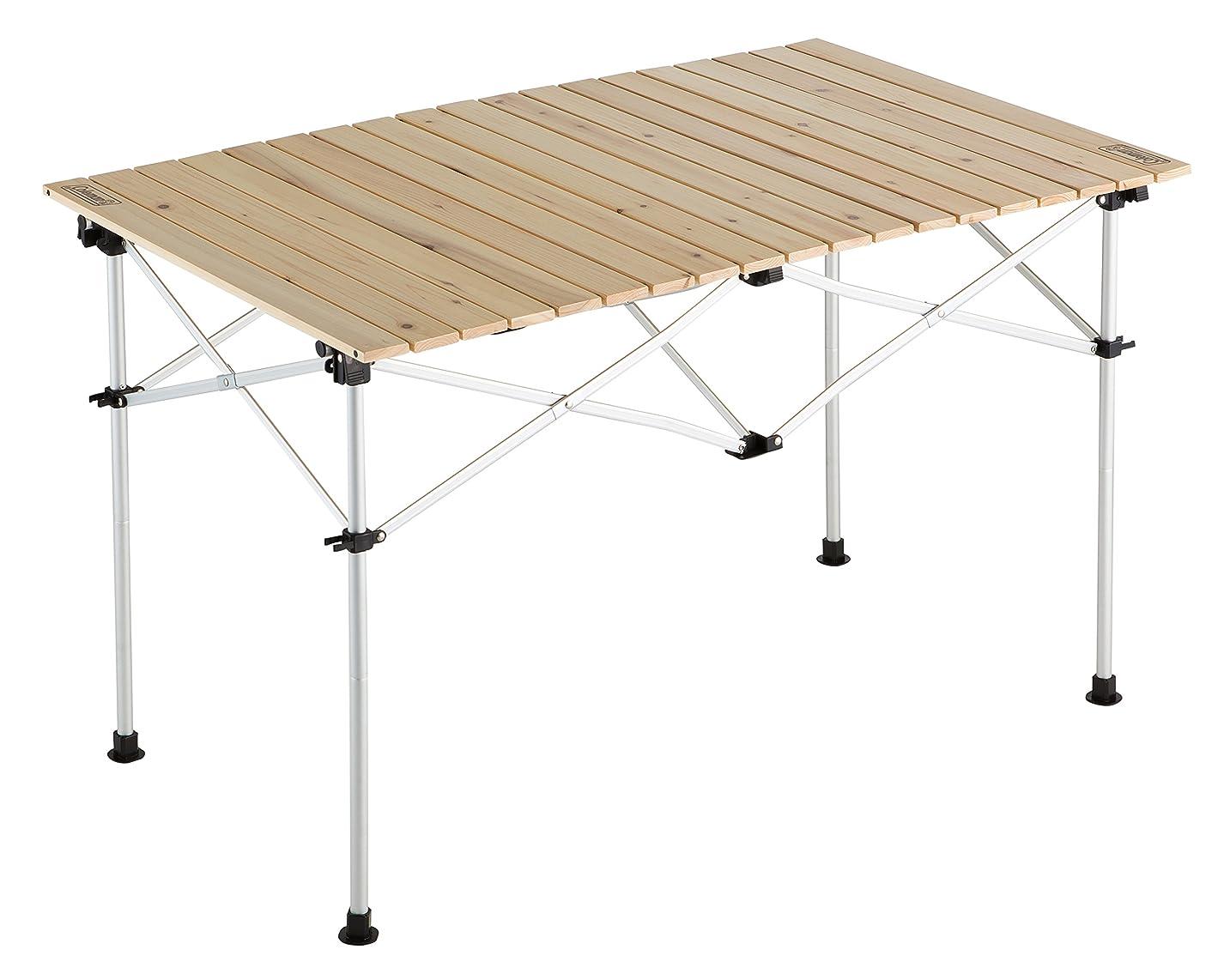 目を覚ます避難するフェミニンコールマン(Coleman) テーブル ナチュラルウッドロールテーブル