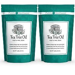 Purely Northwest Tea Tree Oil and Epsom Salt for Toenail Fungus