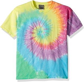 Liquid Blue Unisex-Child 11107Y-960-XL Pastel Spiral Short Sleeve T-Shirt Short Sleeve T-Shirt - Multi