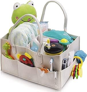 Filz Organizer f/ürs Auto Aufbewahrungstasche Kindergarten Reisetasche Sortim Faltbare Filz-Aufbewahrungstasche f/ür Babywindeln