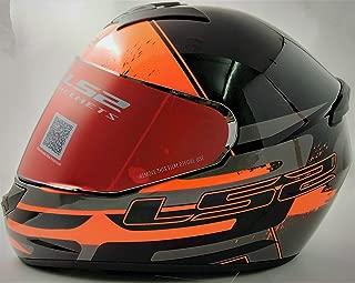 LS2 Helmets - FF352 Rookie - Combat - Gloss Black Grey Orange - Single Mercury Visor Full Face Helmet - (Medium - 570 MM)