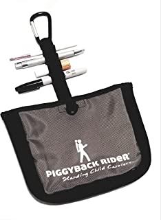 Piggyback Rider Side Pocket with Carabiner Clip for Everyday Organizing Kids Stuff Stroller Bag, Purses, Backpacks for Hiking, Camping, Travel, Amusement Parks, Festivals, Parades