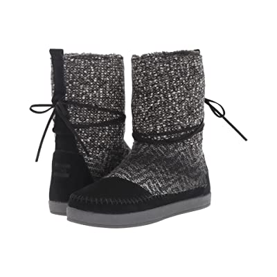 TOMS Nepal Boot (Black Suede/Textile) Women