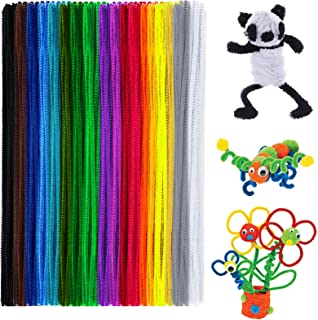 Anvin Pipe Cleaners 100 Pcs 20 Colors Chenille Stems for DIY Crafts Decorations Creative School Projects (6 mm x 12 Inch, ...