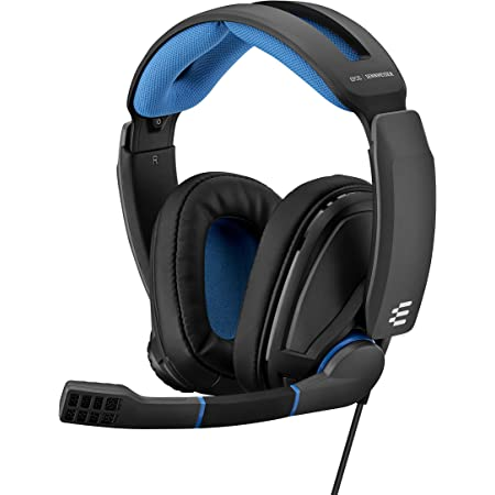 EPOS Sennheiser GSP 300 Gaming Headset with Noise-Cancelling Mic, Flip-to-Mute, Comfortable Memory Foam Ear Pads, Headphones for PC, Mac, Xbox One, PS4, Nintendo Switch, and Smartphone compatible.