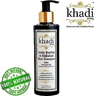 Khadi Global Amla Reetha Shikakai Shampoo 200ml / 6.76 fl.oz | Ayurvedic, Natural & Safe | Originated in INDIA | Strengthen Hair Roots, Maintains Healthy Scalp, Helps Hair Growth, Reduce Hairfall