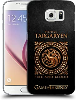 Official HBO Game of Thrones Targaryen Metallic Sigils Hard Back Case Compatible for Samsung Galaxy S6