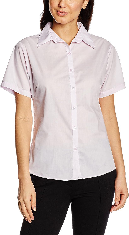 Premier Workwear Ladies Short Sleeve Poplin Blouse