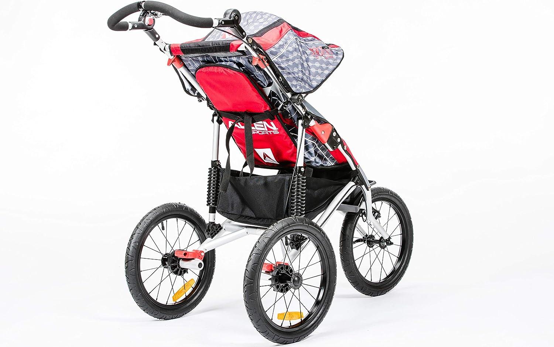 Allen Sports Premier Aluminum 1-Child Jogger, Red, Model J1