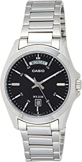 Casio Men's Black Dial Stainless Steel Band Watch - MTP-1370D-1A1VDF