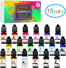 18 Color Epoxy UV Resin Pigment - Liquid Epoxy Resin Dye Transparent Colorant for UV Resin Coloring, DIY Resin Art Jewelry Making - Concentrated UV Resin Colorant for Paint, Crafts - 0.35 oz/10ml Each