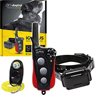 Dogtra IQ Plus+ Remote Training Collar - 400 Yard Range, Waterproof, Rechargeable, Static, Vibration - Includes PetsTEK Dog Training Clicker
