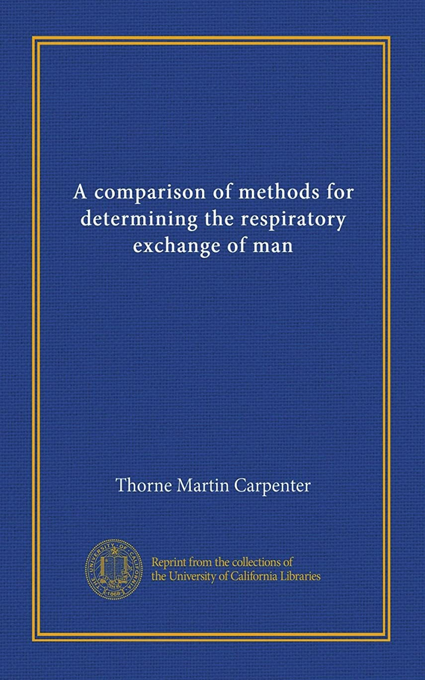 元気パワーセルイブニングA comparison of methods for determining the respiratory exchange of man