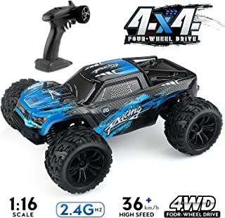 1:16 Scale Rc Cars, 2.4G 4WD Remote Control Off Road Truck , 36km/h High-Speed Off-Road Bigfoot Truck RC Car G174, RC Electronic Monster Hobby Truck Buggy for Kids Adults (Blue)