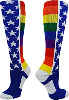 MadSportsStuff Rainbow Pride Over The Calf Socks