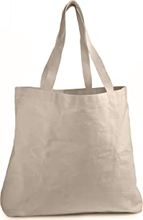 Reusable Grocery Canvas Bag - Durable Double Stitching with Two Sturdy Shoulder Straps to Handle Heavy Groceries. Canvas Tote Grocery Bags, an Eco-Friendly Solution for Grocery Shopping. (19