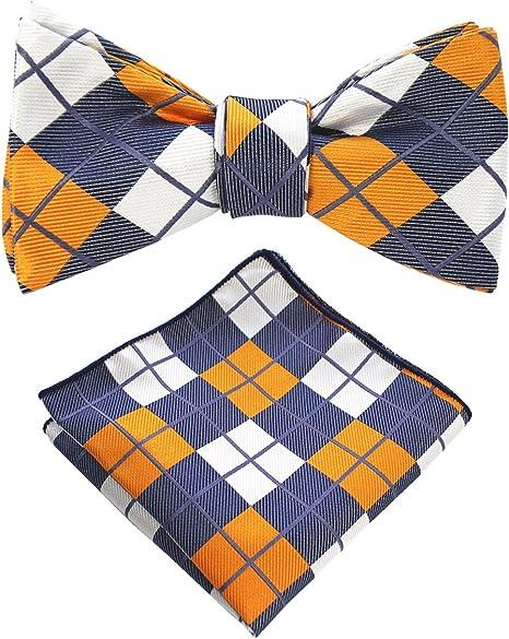 Small gingham plaid bow tie Zach Men/'s Bowtie