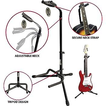 RockJam universal Guitarra soporte vertical para Todos Guitarra ...