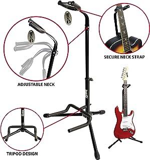 RockJam Soporte de guitarra vertical universal para todas las guitarras, Soporte de guitarra clásica, acústica, eléctrica y baja
