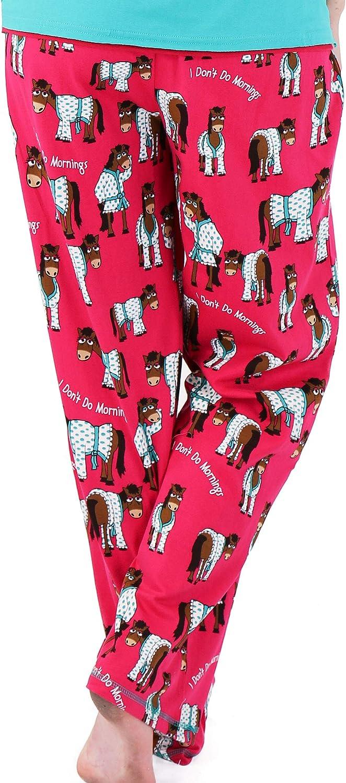 LazyOne Mujer Dont Do Mornings Horse Pijama Pantalones