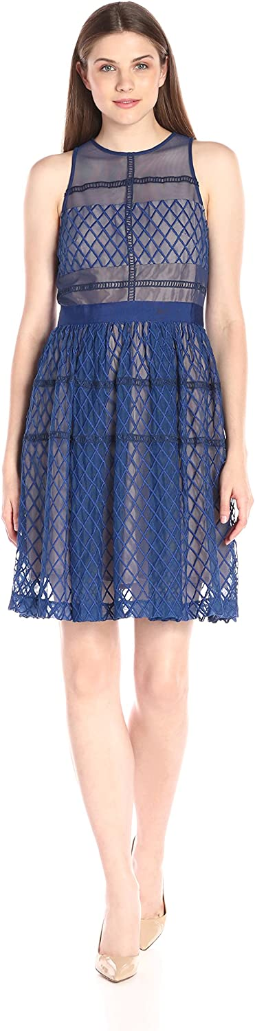 women Morgan Womens Sleeveless Midi Dress with Ful Dress