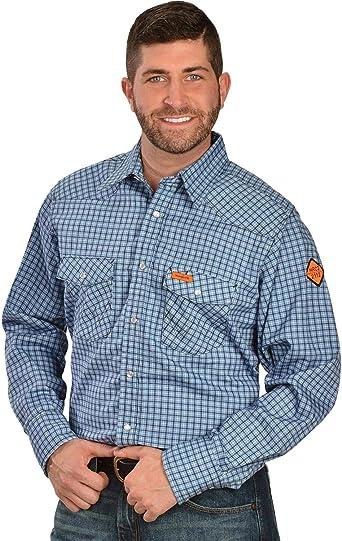Wrangler Riggs Workwear Flame Resistant Western Two Pocket Snap Shirt Camisa de trabajo con botones Hombre