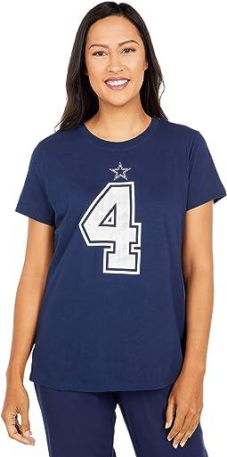 Dallas Cowboys Nike Dak Prescott #4 Name & Number Tee