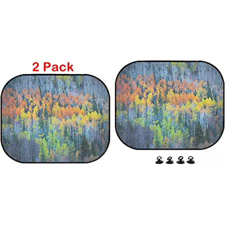 Luxlady Car Sun Shade Protector Block Damaging UV Rays Sunlight Heat for All Vehicles 2 Pack ID 44790026 Colorful Ornamental Decorative Fish