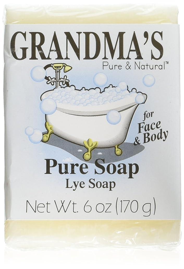 大声でアトラス罪Grandma's Pure & Natural Lye Soap Bars for Dry Skin No Additives 6oz (Set of 4)