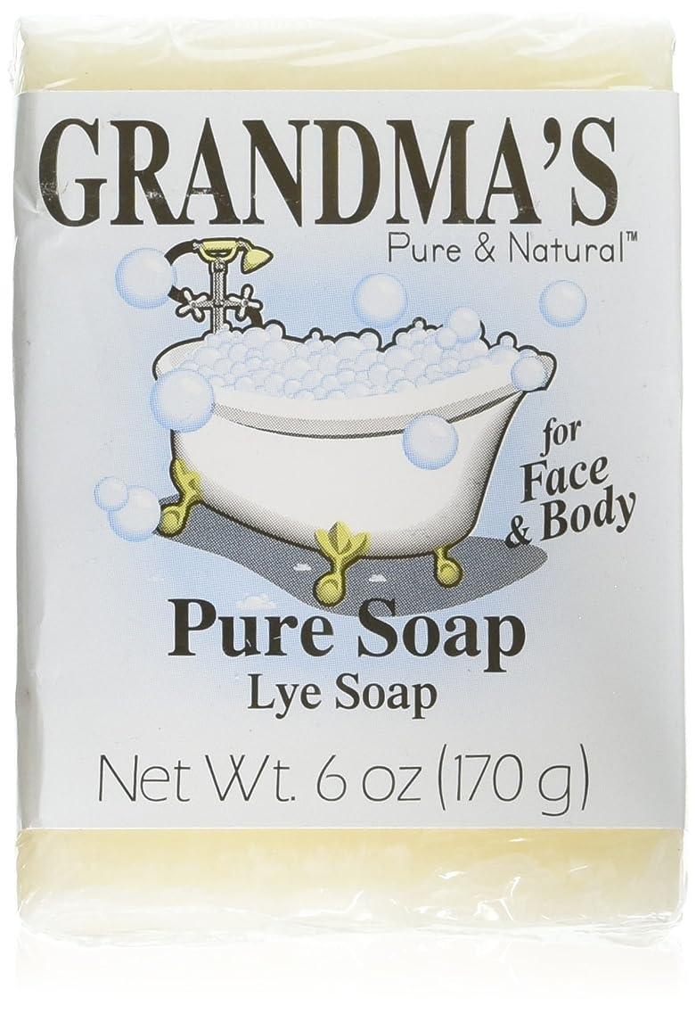 いつもウィザード魅惑的なGrandma's Pure & Natural Lye Soap Bars for Dry Skin No Additives 6oz (Set of 4)