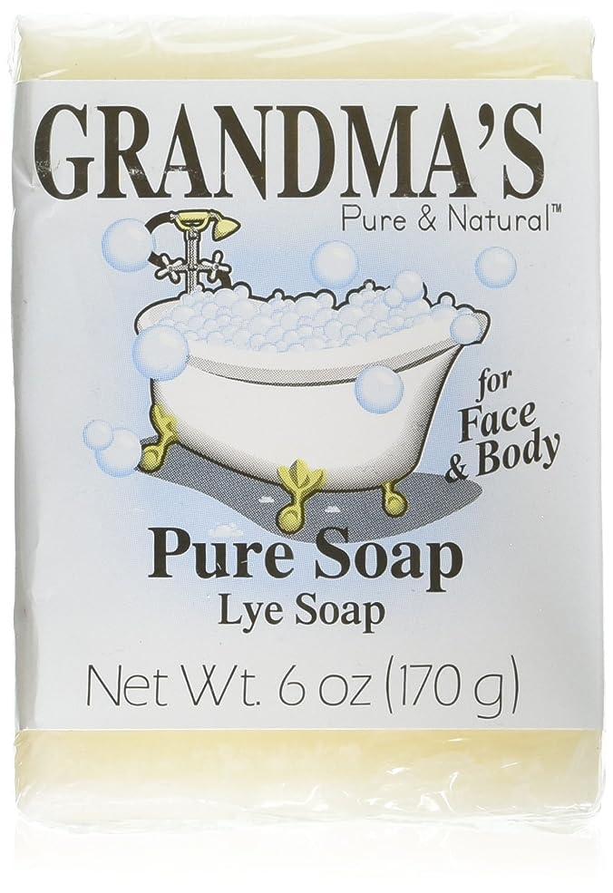 耐えるどれかケーブルGrandma's Pure & Natural Lye Soap Bars for Dry Skin No Additives 6oz (Set of 4)
