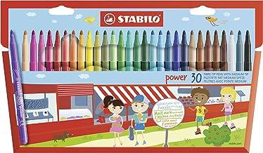 Feutre de coloriage - STABILO power - Étui carton x 30 feutres pointe moyenne - Coloris assortis